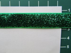 glitterband 15 mm, groen