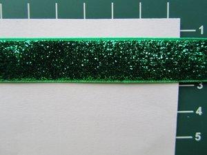 glitterband 15 mm, groen