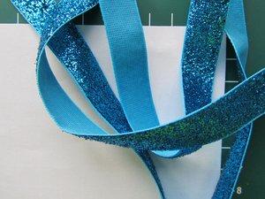 glitterband 15 mm, turquoise