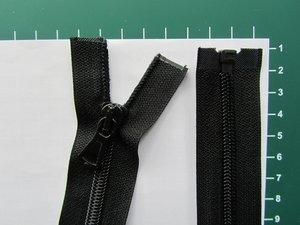 Deelbare rits met automatische runner, zwart, 50 cm