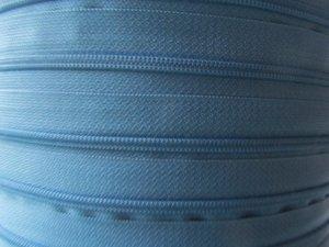 rits aan de meter, licht-jeansblauw 4mm