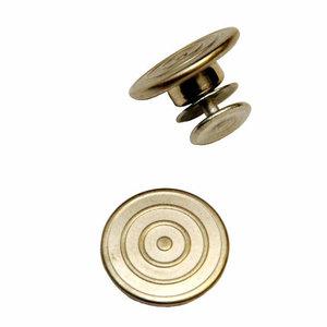 jeansknoop 17 mm zilverkleurig met ringen