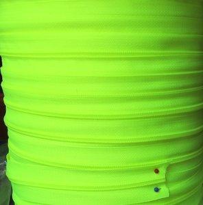 rits aan de meter, fluoriserend geel/groen 4mm