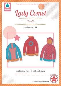 Lady COMET/ patroon van een hoody in de maten 34, 36, 38, 40, 42, 44