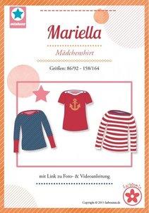 Mariella/ patroon van een kindershirt met boothals in de maten 86/92 - 158/164