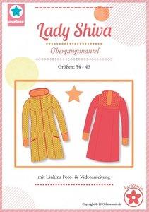 Lady Shiva, een patroon van een jas in de maten 34 t/m 46