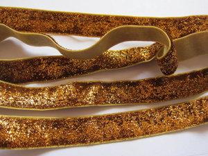 glitterelastiek donker goud 1,6 cm breed