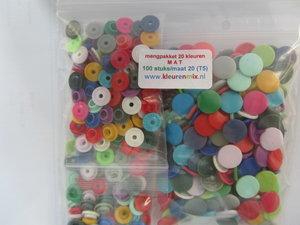 kleurenpakket maat 20/100 stuks, MAT, ongesorteerd