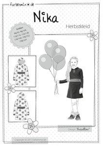NIKA, patroon van een tricot jurk in de maten 86/92 tot en met 158/164