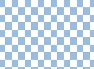 Vicente: schaakbord, blokjes tricot in lichtblauw/wit- beetje gekreukeld