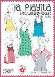 La Playita, patroon van een jurk met kort vest