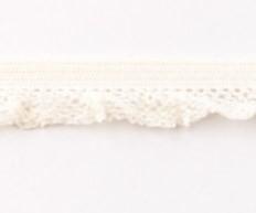 zeer zacht en elastisch rucheband, gebroken wit/crème 15mm