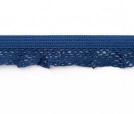 zeer zacht en elastisch rucheband, donkerblauw 15mm