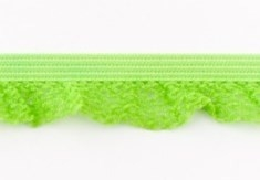 zeer zacht en elastisch rucheband, lime 15mm