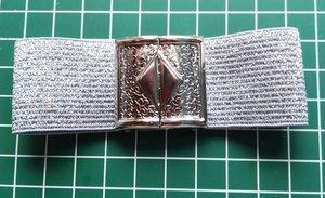 klemgesp zilverkleurig metaal 30 mm voor het maken van een ceintuur