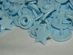 snaps lichtblauw glanzend ster: kleur 20