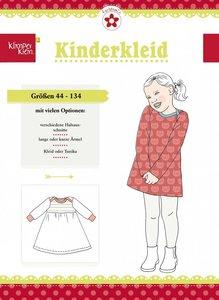 Klimperklein, kinderkleid (jurkje) in de maten 44 t/m 134