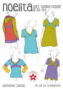 NOELITA, shirt in de maten 86 t/m 164 in enkele maten, dus 86,92,104 enz
