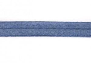 omvouwelastiek  jeansblauw