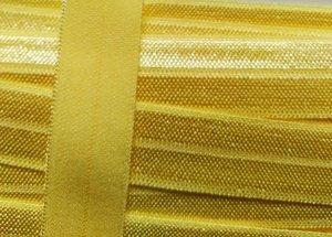 omvouwelastiek zacht geel