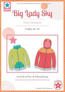 Big Lady Sky , vest of jack in de maten 46, 48, 50, 52, 54, 56, 58