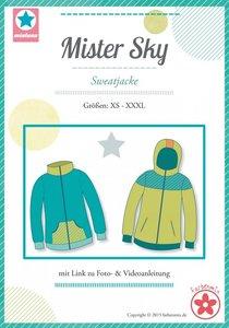 Mister Sky/ patroon van een vest of jack in de maten XS, S, M, L, XL, XXL, XXXL