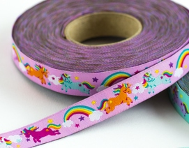 Rainbow Unicorns : sierbandje roze
