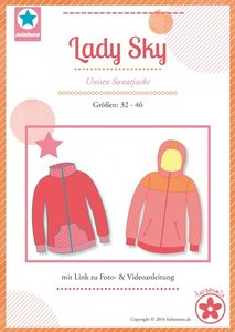 Lady Sky, patroon van een vest of jack in de maten 32 t/m 46