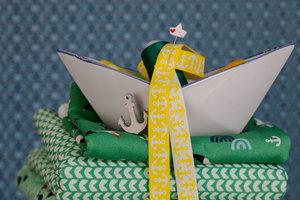 Ankerband geel-wit uit deOn The Open Sea-serie vanLilaLotta