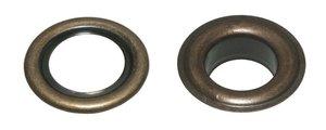 Zeilring/nestel 19 mm bronskleurig