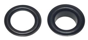 Zeilring/nestel 14 mm zwart gecoat staal