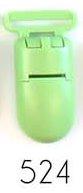 bretelclip, kunststof speenkoordclip lichtgroen