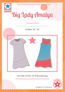 Big Lady Amalya, zomerjurk in de maten 46 t/m 56