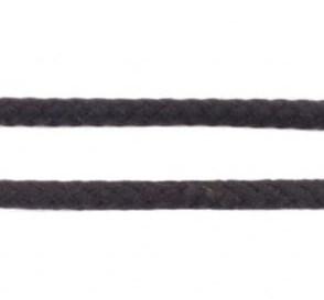 Koord 8 mm gevlochten katoenen koord, zwart