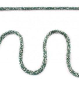 Koord 5 mm gevlochten katoenen koord, gemêleerd donkergroen