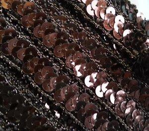 elastisch paillettenband, bruin