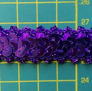 elastisch paillettenband, paars