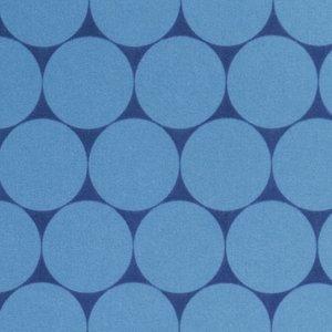 Sheldon: softshell grote rondjes jeanskleur/donkerblauw, winddicht