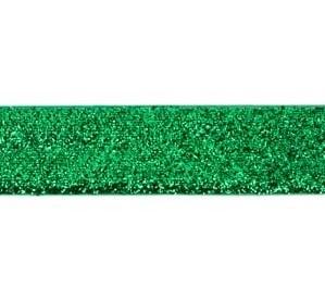 glitterband 25 mm, groen
