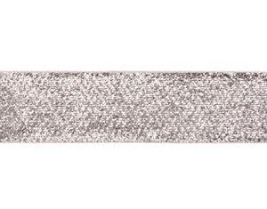 glitterband 25 mm, zilver
