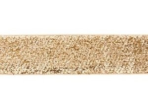 glitterband 25 mm, goud