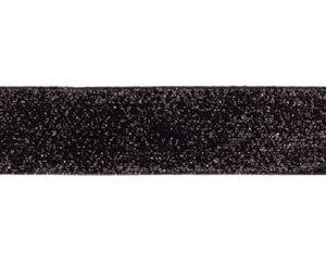 glitterband 25 mm, zwart