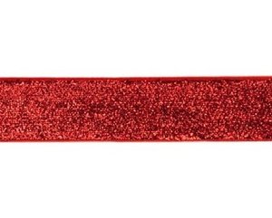 glitterband 25 mm, rood