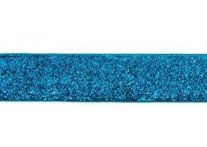 glitterband 25 mm, turquoise