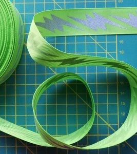 ribsband met reflecterende bliksemschichten, groen