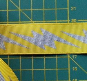 ribsband met reflecterende bliksemschichten, geel