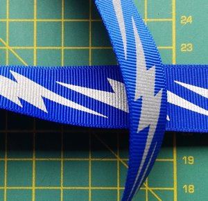 ribsband met reflecterende bliksemschichten, blauw
