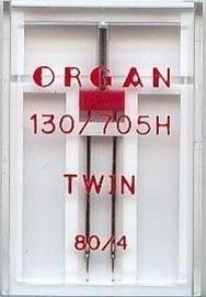 Organ tweelingnaald 80/4