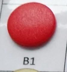 kleine snaps helder rood MAT /B1M16
