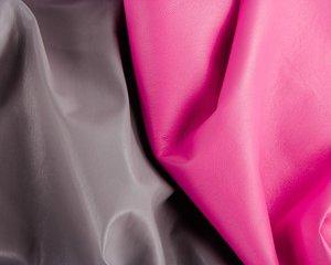 doubleface kunstleer: roze-grijs
